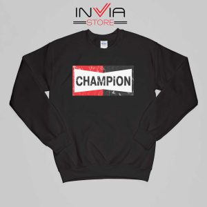 Buy Sweatshirt Champion Spark Vintage Champion Sweater Size S-XL Black