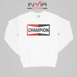 Buy Sweatshirt Champion Spark Vintage Champion Sweater Size S-XL White