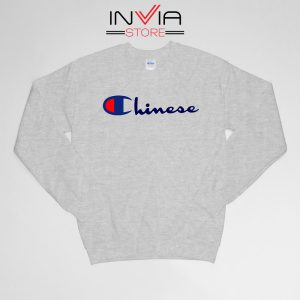 Buy Sweatshirt Chinese Champion Art Sweater Size S-XL Grey
