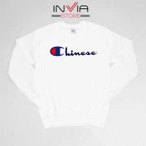Buy Sweatshirt Chinese Champion Art Sweater Size S-XL White