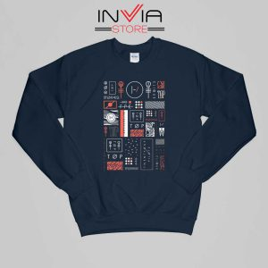Buy Sweatshirt Korean Blurryface Twenty One Pilots Sweater Size S-XL Navy