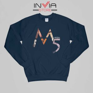 Buy Sweatshirt Maroon 5 Band M Five Sweater Size S-XL Navy