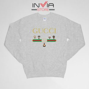 Buy Sweatshirt The Upside Down Gucci Cartoon Sweater Size S-XL Grey