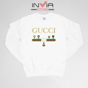 Buy Sweatshirt The Upside Down Gucci Cartoon Sweater Size S-XL White