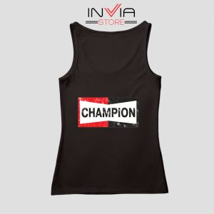 Buy Tank Top Champion Spark Vintage Champion Custom Size S-XL Black