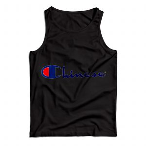 Buy Tank Top Chinese Champion Art Custom Size S-XL Black