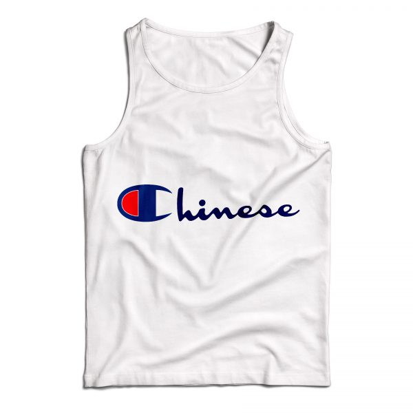 Buy Tank Top Chinese Champion Art Custom Size S-XL White