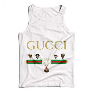 Buy Tank Top The Upside Down Gucci Cartoon Custom Size S-XL White