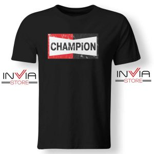 Buy Tshirt Champion Spark Vintage Champion Shirt Size S-XL Black