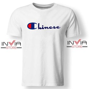 Buy Tshirt Chinese Champion Art Shirt Size S-XL White