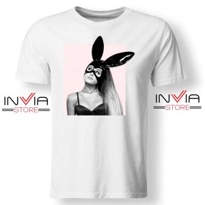 Dangerous Woman Ariana Grande Cover Tshirt Music Tee Shirts S-3XL White