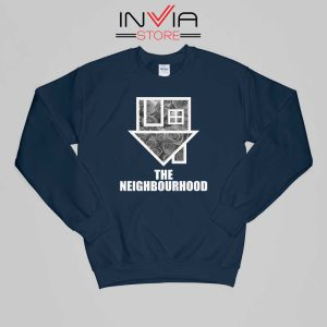 Flowers The Neighbourhood Band Sweatshirt Music Size S-XL Navy