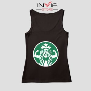 Starbuff She Works Out Starbucks Tank Top Music Custom Size S-XL Black