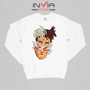 XXXTentacion Slice Poster Art Sweatshirt Celebrity Size S-XL White