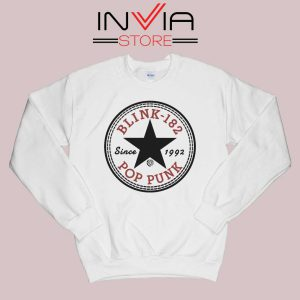 All Star Blink 182 Sweatshirt White