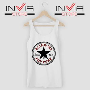 All Star Blink 182 Tank Top White