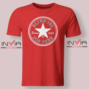 All Star Blink 182 Tshirt Red
