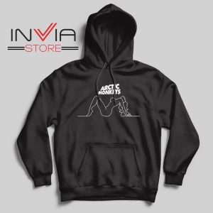 Arctic Monkeys Wave Girl Hoodie Black