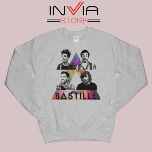 Bastille Pop Band Nebula Sweatshirt Grey
