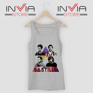 Bastille Pop Band Nebula Tank Top Grey
