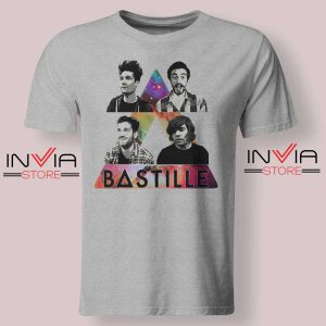 Bastille Pop Band Nebula Tshirt Grey