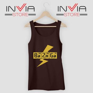 Bazinga The Big Bang Theory Tank Top Balck