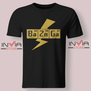 Bazinga The Big Bang Theory Tshirt Black