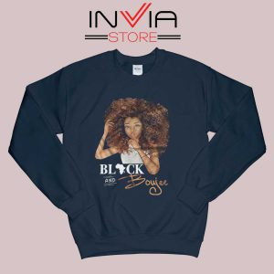 Black And Boujee Sweatshirt Navy