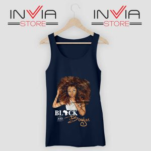 Black And Boujee Tank Top Navy