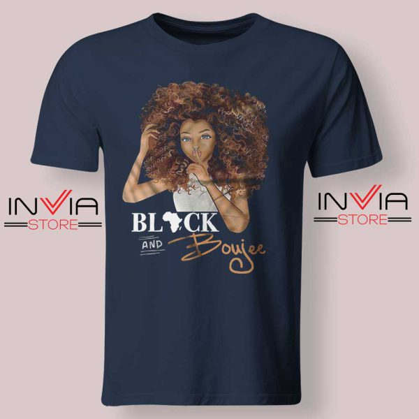 Black And Boujee Tshirt Navy