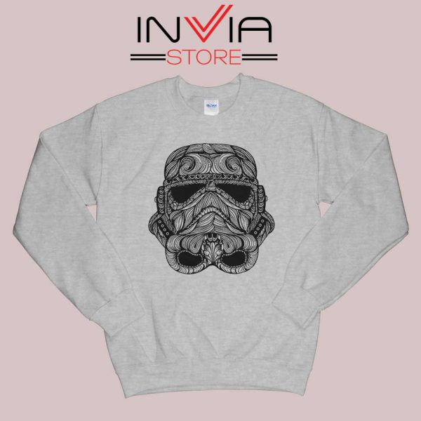 Black Stormtrooper Sweatshirt Grey