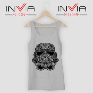 Black Stormtrooper Tank Top Grey