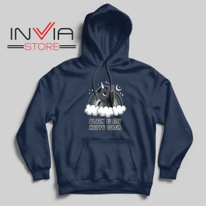Black Unicorn Is My Color Hoodie Navy