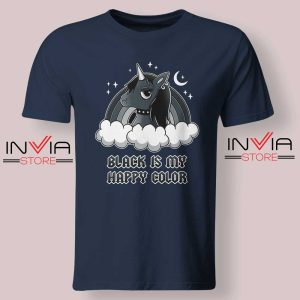Black Unicorn Is My Color Tshirt Navy