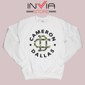 Cameron Dallas Army Sweatshirt White
