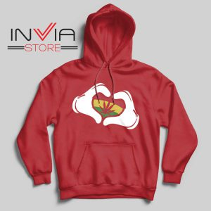 Cartoon Hans Rasta Hoodie Red