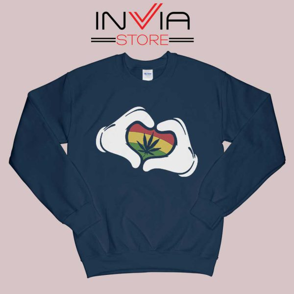 Cartoon Hans Rasta Sweatshirt Navy