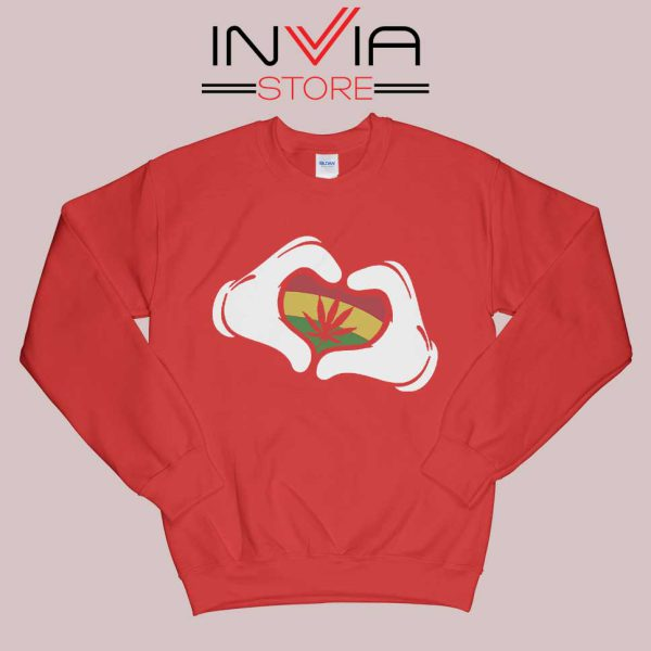 Cartoon Hans Rasta Sweatshirt Red