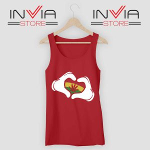 Cartoon Hans Rasta Tank Top Red