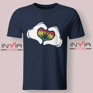 Cartoon Hans Rasta Tshirt Navy