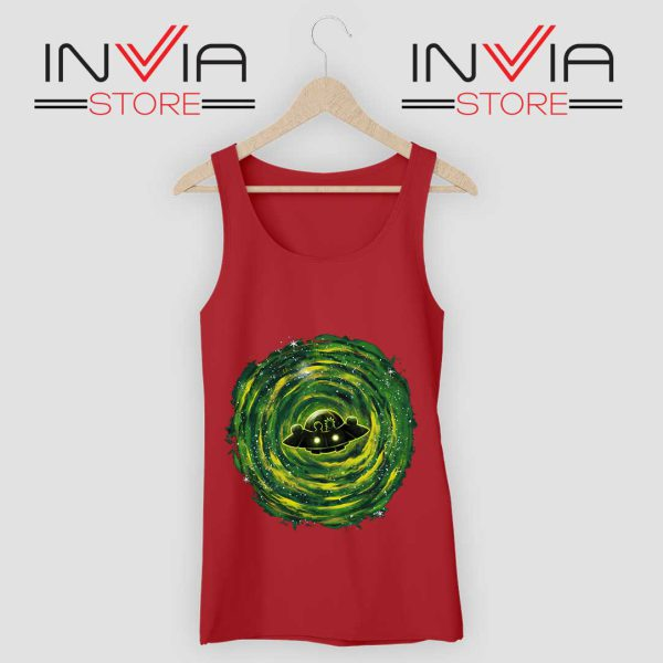Dimensional Rick Morty Tank Top Red