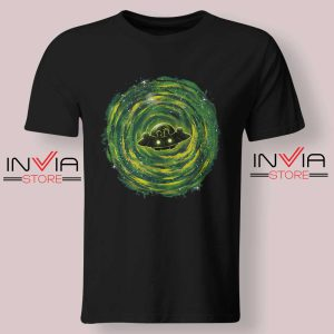 Dimensional Rick Morty Tshirt Black