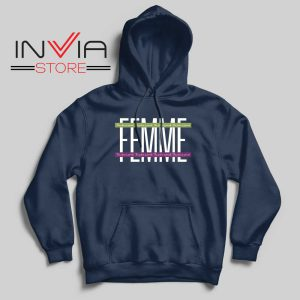 Femme The Future is Female Hoodie Navy