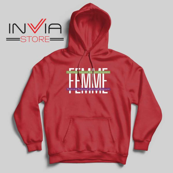 Femme The Future is Female Hoodie Red