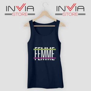 Femme The Future is Female Tank Top Navy