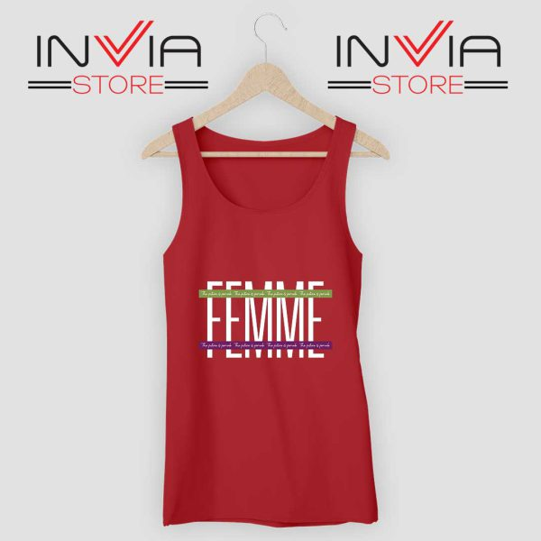 Femme The Future is Female Tank Top Red