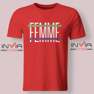 Femme The Future is Female Tshirt Red