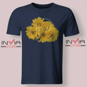 Flower Twenty One Pilots Tshirt Navy