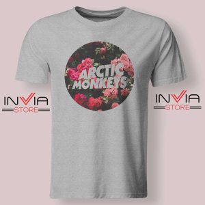 Flowers Arctic Monkeys Tshirt Grey