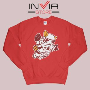 Fly Stormtrooper Star Wars Sweatshirt Red